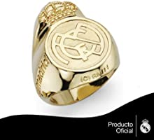 Sello oro amarillo 18k real madrid gigante