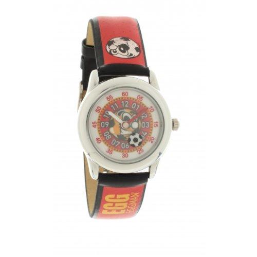 Ei-4042509DDP Kinder-Armbanduhr Analog Quarz Schwarz Zifferblatt Rubber Strap