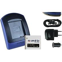 Baterìa + Cargador (USB/Coche/Corriente) NB-4L para Canon Ixus 115 HS, 255 HS.../ Powershot SD30 SD40, SD1100, TX1 ...ver lista