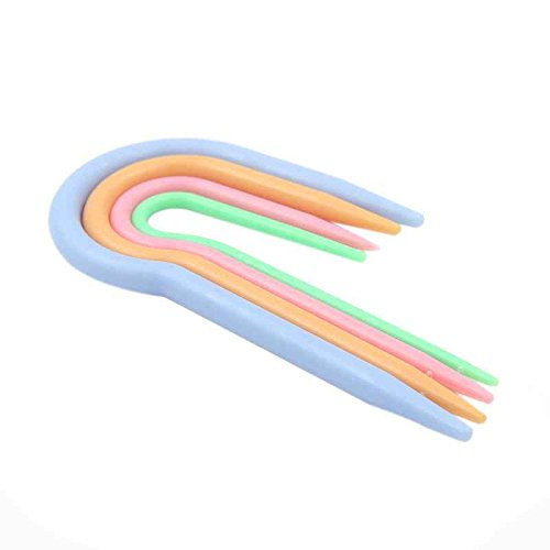 meisijia 4 stücke U Twist Nadeln für Pullover Weben DIY Stricken Handwerkzeug Set Twist Stricken Nadeln