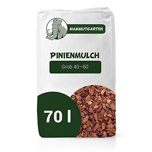Pinienmulch Pinie Rinde Garten Grob 40-60 mm 70l Sack