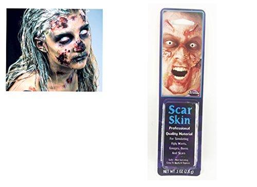 Halloween Zombie Narbe Tote Haut Blutigen Wunden Latex Scars Kleber Fleisch Wunde