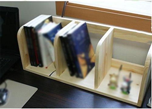 Libro Estante Estante 60 (largo) * 21 (ancho) * 23 (alto) Cm Madera maciza Color madera