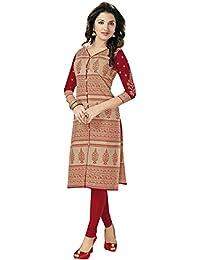 Ishin Cotton Beige Printed Party Wear Wedding Wear Casual Wear Festive Wear New Collection Latest Design Trendy...