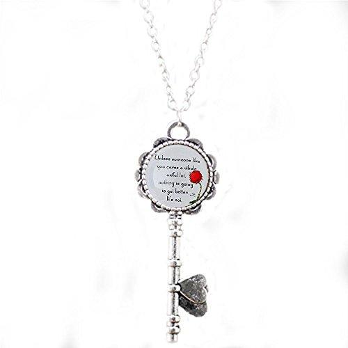 Lorax Truffula Baum 'sofern nicht' Zitat Halskette Schlüssel, Silber oder Bronze Schlüssel Halskette, Silber oder Bronze Halskette Schlüssel  Einzigartige Halskette Schlüssel Individuelle Geschenk  Everyday Geschenk Schlüssel Halskette
