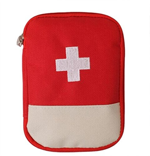 Shopo's RED Outdoor First Aid Emergency Medical Kit Survival bag Wrap Gear Hunt Travel Bag small medicine