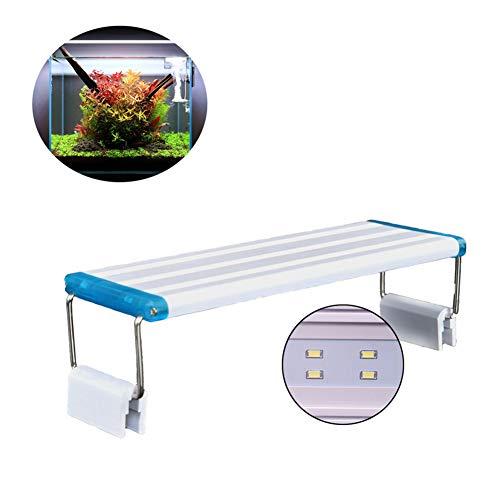 DJLOOKK Illuminazione per Acquario, Plafoniera LED Acquario Dolce, Lampada LED per Acquario Luce Acquario Adatto A Tutti I Tipi di Acquari