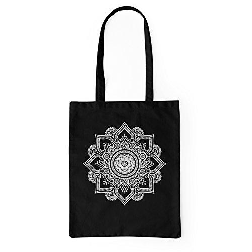 LaMAGLIERIA Bolsa Tela Mandala White Print Man01 -