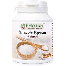 Sales de Epsom (sulfato de magnesio) 600mg x 80 Cápsulas