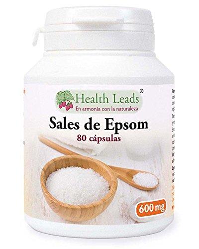Sales Epsom sulfato magnesio 600mg x 80 Cápsulas