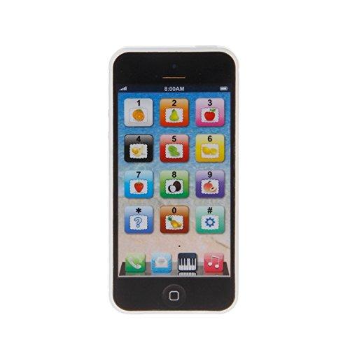 Aawsome Kinder-Handy, Musik-Handy, Lernspielzeug, Geschenk 12 * 5.5CM Schwarz
