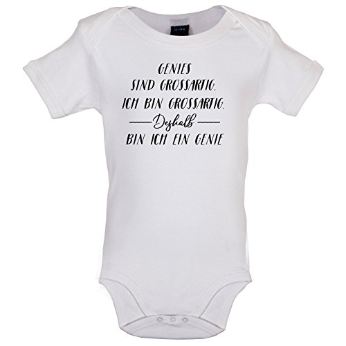 Ich Bin Grossartig - Genies - Lustiger Baby-Body - Weiß - 3 bis 6 Monate