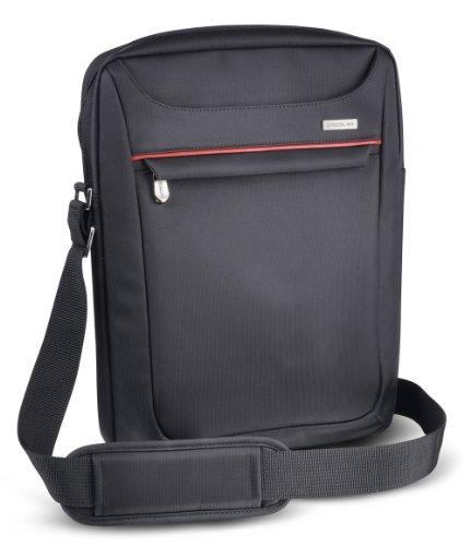 Speedlink Escudo Umhängetasche für Notebook bis zu 13,3 Zoll/33,7 cm (3 Außenfächer, zusätzliches Innenfach, verstellbarer gepolsterter Schultergurt) dunkelgrau