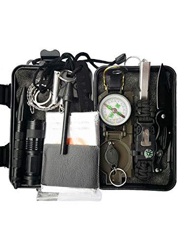 CUKKE Kit di Sopravvivenza Multiuso Usato per Esterna First Aid Kit per Gli Sport all\'Aria Aperta Campeggio Alpinismo ECC