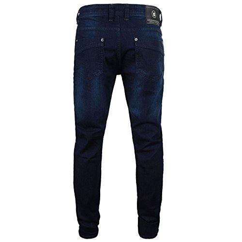 Neu Herren Crosshatch Designer Denim Markiert Slim Fit Jeans All Waist Leg Größen Seria Blau