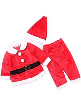 Lee Little Angel Weihnachten Flanell Long Sleeve Schöne Baby Kids Dress Up Santa Kostüm 3 Stück Set