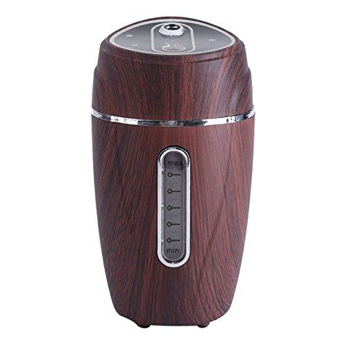 Preisvergleich Produktbild Hand-Luftbefeuchter, USB Luftreiniger Ultraschall Luftbefeuchter mit Stand Aroma Diffusor Portable Mini Mist Diffusor für Auto Büro(Braun)