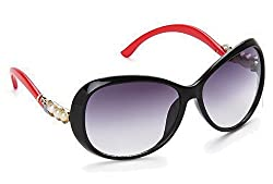 Olvin UV- Protected (OL300-01) Black Womens Oval Sunglasses GOOD STUFF WITH PREMIUM LOOKS