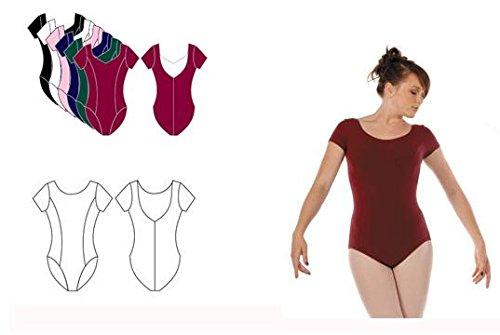 Capezio CC420 Damen Kurzarm Ballett Trikot SCHWARZ S (Trikot Capezio Damen)