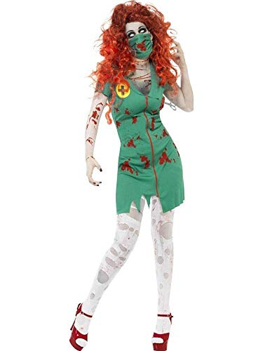 ene Frauen Green Horror Blood Nurse Zombie Doctors Kleid Stage Wear Horror Halloween Rollenspiel Make-up Cosplay Kostüm ()