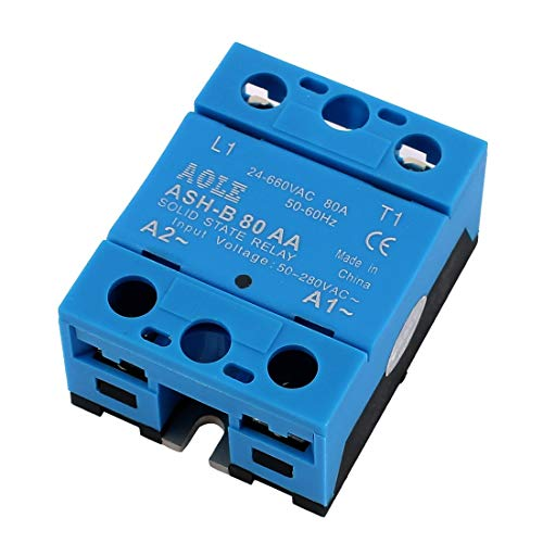 ZCHXD ASH-B80AA 24-660VAC to 480VAC 80A Single Phase Solid State AC to AC Relay