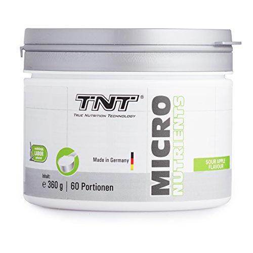 Multivitamin Pulver hochdosiert mit 23 Vitamine & Mineralien – Superfood Vitamin-Komplex/360g SOUR APPLE (Multi Pure Wasser)