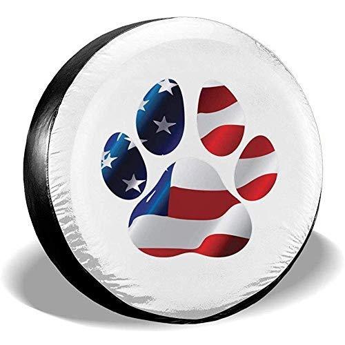Hiram Cotton Spare Tire Cover Stampa Bandiera Americana in Zampa Ruota di Scorta Copertura Pneumatici Fuoristrada velocità Estrema Overdrive Univers