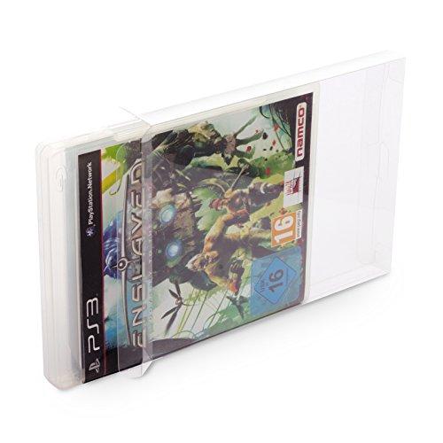 10 Klarsicht Schutzhüllen PS3 [10 x 0,3MM PS3] Spiele Originalverpackungen Passgenau Glasklar