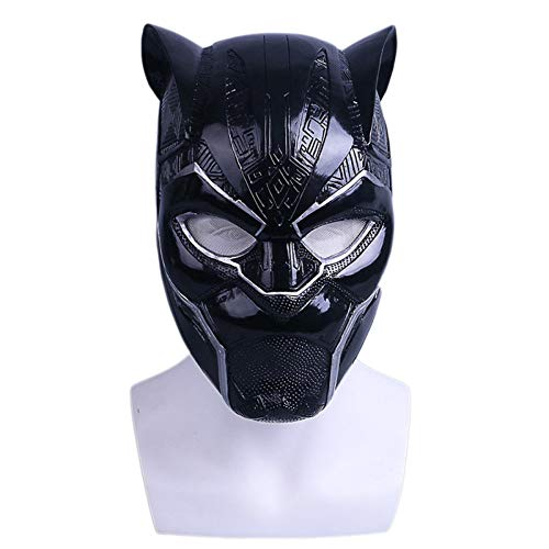 (QXMEI Film Panther Helm Maske Halloween Wecken Film Requisiten Cos,PantherHelmetLight-OneSize)