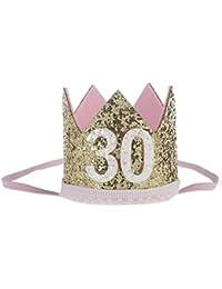 Koly sombreros, bebé niña lentejuelas cabeza accesorios flor elástica diadema (30)