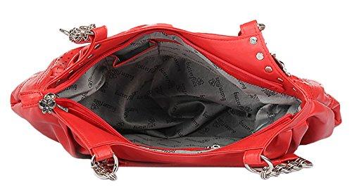 Butterflies sac à bandoulière casual embrayage et fronde sac pack de femmes concepteur de 3 Multicolore