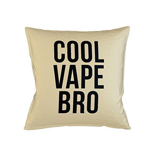 Teequote Cool Vape Bro Vaping Smoke Cloud Chaser Schlafsofa Home Décor Kissen Kissenbezug Fall Beige