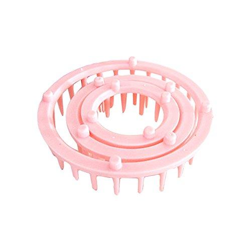 Lana tejer Loom gancho flor Maker DIY Craft Needlework herramienta Color aleatorio