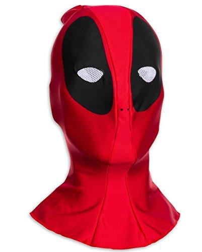 Deadpool Maske in Einheitsgröße für Erwachsene, aus - Deadpool Ryan Reynolds Kostüm