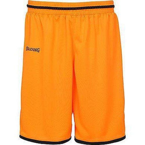Spalding Kinder Move Shorts, Dark orange/Schwarz, 152