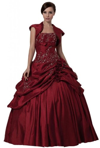Lemandy - Robe - Femme rouge Red Bordeaux