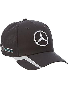 Mercedes AMG Petronas Hombre Mercedes AMG Team Cap 2016Black Tapa, Negro, One size