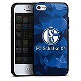 DeinDesign Silikon Hülle kompatibel mit Apple iPhone 5 Case Schutzhülle FC Schalke 04 Muster Offizielles Lizenzprodukt