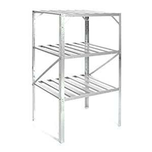 nexos gew chshausregal aluminium standregal regal pflanztisch 62 x 50 x 114 cm f r gew chshaus. Black Bedroom Furniture Sets. Home Design Ideas