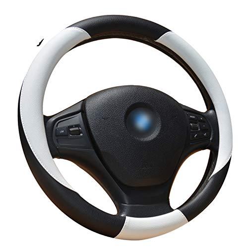 Ablaze Jin Couvre-Volant en Microfibre pour Voiture Diamètre extérieur 35,6 à 38,1 cm Compatible avec 96% de Voitures 4 Couleurs, Blanc