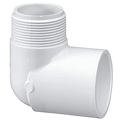2 MNPT x Socket PVC 90 Degree Street Elbow by LASCO
