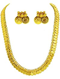 JDX Gold Plated Laxmi Coin Necklace For Women And Girls