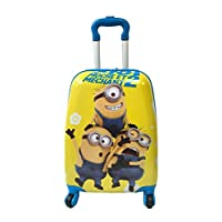 "Children Kids Holiday Travel Character Suitcase Luggage Trolley Bags 18"" Minion"