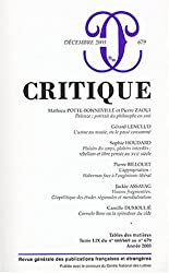 Critique, numéro 679