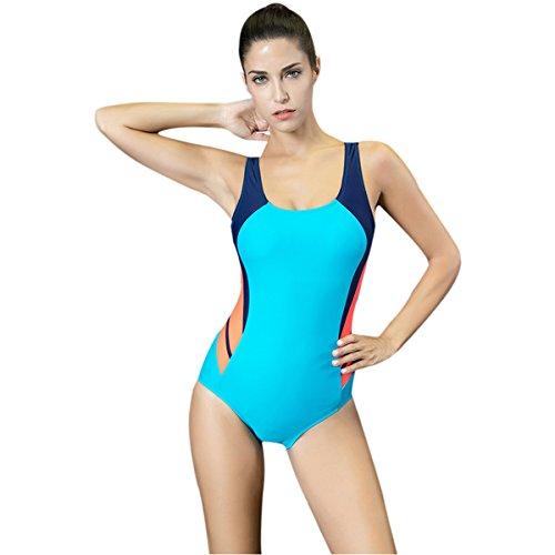 Mufly Mujer Bikini atractiva Trajes de baño Pieza Verano Playa Piscina Viaje Bañadores Deportivos Mujer Elástico Verano Deportivas Natación Azul XXL