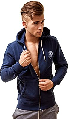 Diesel Men's Zip Up Sports Hoody Brandon