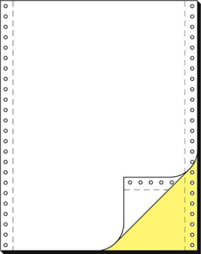 Schäfer Shop Computer Endlospapier 2-fach blanko, gelbe Kopie, 1000 Stück