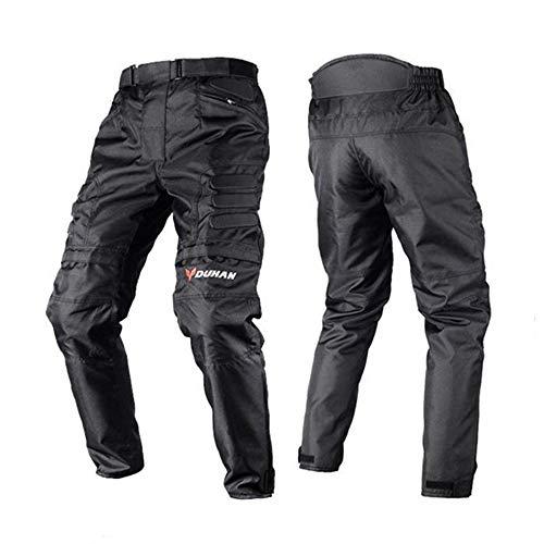 B&HG Motorradjacke Herren - Motorradtrikot - Winddicht - Herren Jacken/Motocross Reithosen (Jacke Hat Eine Herausnehmbare Warme Schicht) Motoradkleidung Herren (Black/Pant,M)
