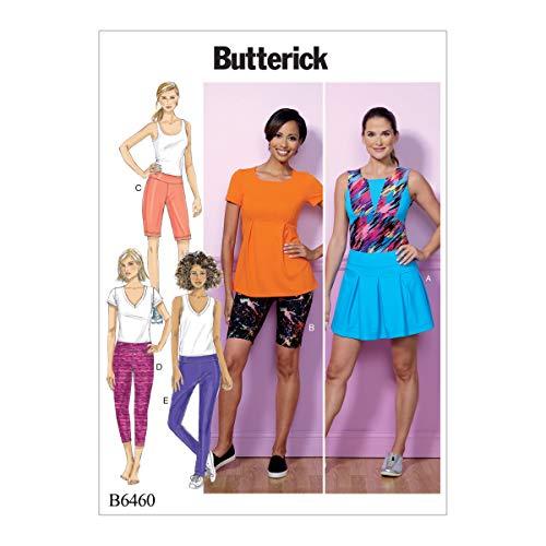 Butterick Patterns Butterick Schnittmuster 6460Y, Skort, Shorts und Hose, Größen xsm-med, Mehrfarbig -