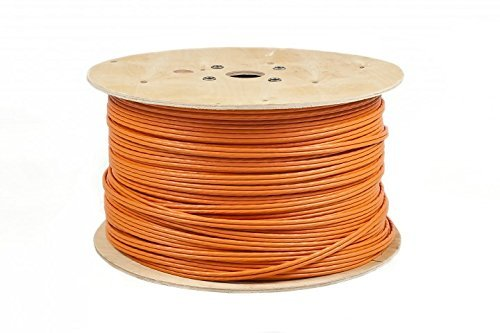 50m Duplex CAT.7 Verlegekabel Gigabit 10Gbit Netzwerkkabel CAT. 7 1000Mhz SFTP S/FTP CAT7 Installationskabel PIMF Kabel CAT7 Netzwerk Verkabelung LAN Kabel Datenkabel CAT7 4x2xAWG23/1 orange CAT 7